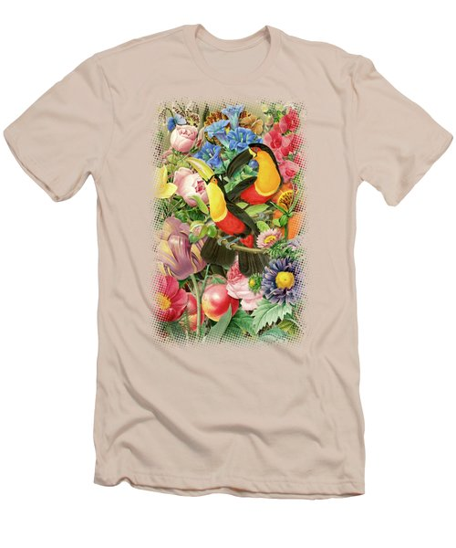 Toucans Men's T-Shirt (Slim Fit) by Gary Grayson