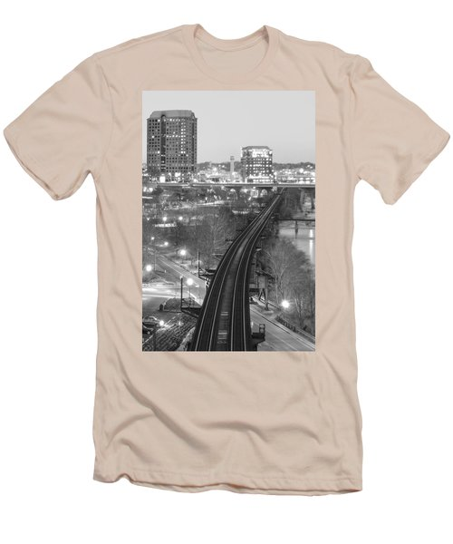 Tracks Into The City Men's T-Shirt (Athletic Fit)