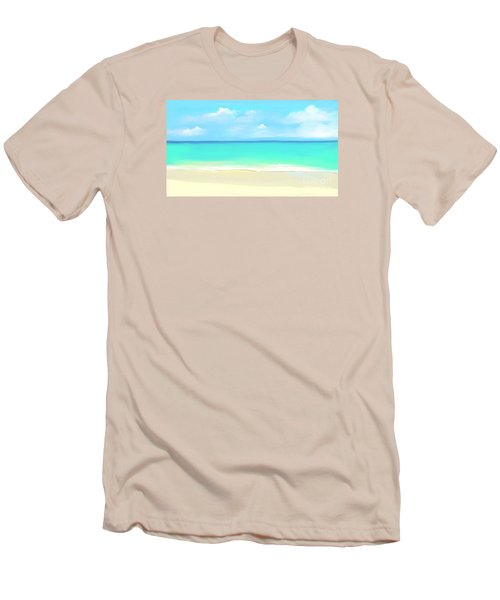 Tranquil Beach Men's T-Shirt (Slim Fit) by Anthony Fishburne