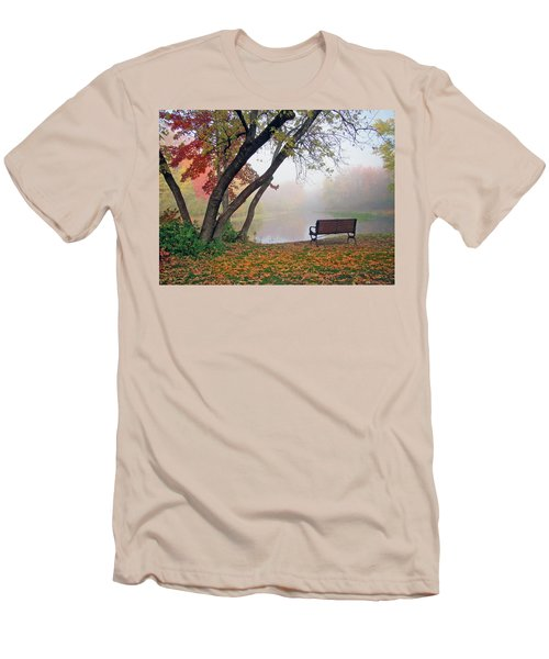 Tranquil View Men's T-Shirt (Slim Fit) by Betsy Zimmerli