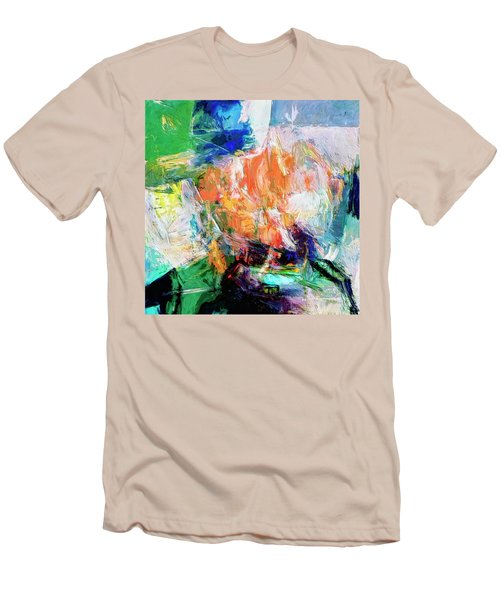Men's T-Shirt (Slim Fit) featuring the painting Transformer by Dominic Piperata