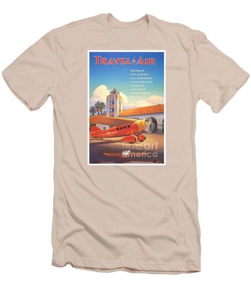 Travel By Air Men's T-Shirt (Slim Fit) by Nostalgic Prints