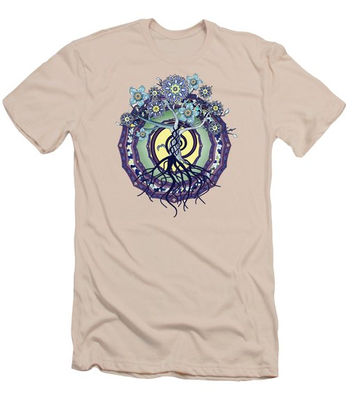 Men's T-Shirt (Slim Fit) featuring the digital art Tree Of Enlightenment Abstract by Deborah Smith