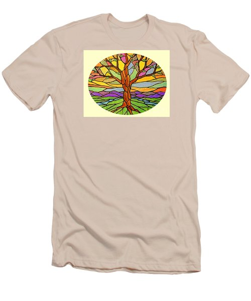 Tree Of Grace 2 Men's T-Shirt (Slim Fit) by Jim Harris