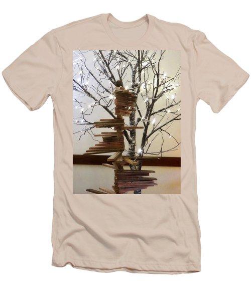 Tree Of Lights Men's T-Shirt (Slim Fit) by Robin Regan