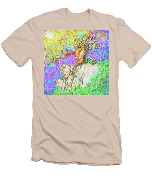 Tree Touches Sky Men's T-Shirt (Slim Fit) by Hidden Mountain and Tao Arrow