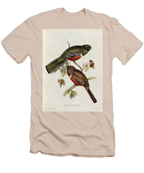 Trogon Collaris Men's T-Shirt (Slim Fit) by John Gould