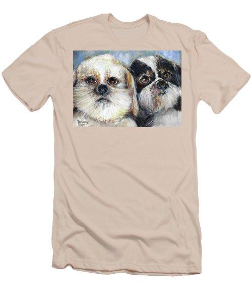 Trouble And Lexi Men's T-Shirt (Slim Fit) by Bernadette Krupa