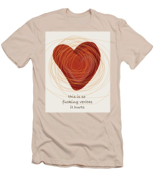 Men's T-Shirt (Slim Fit) featuring the painting True Love by Frank Tschakert
