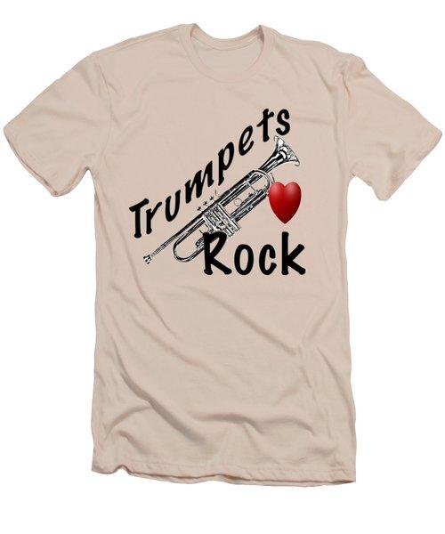 Trumpets Rock Men's T-Shirt (Slim Fit) by M K  Miller