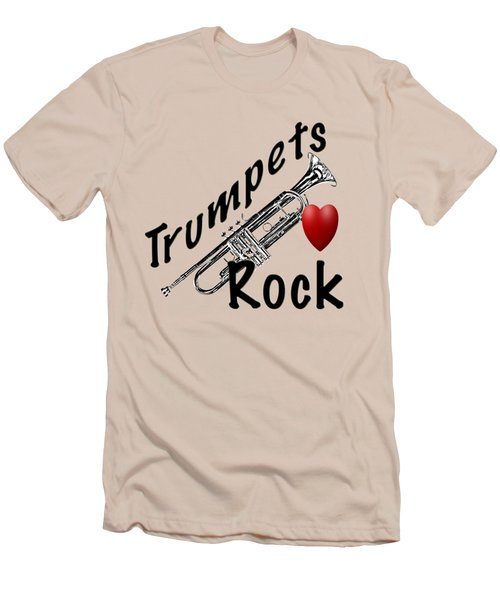 Trumpets Rock Men's T-Shirt (Athletic Fit)