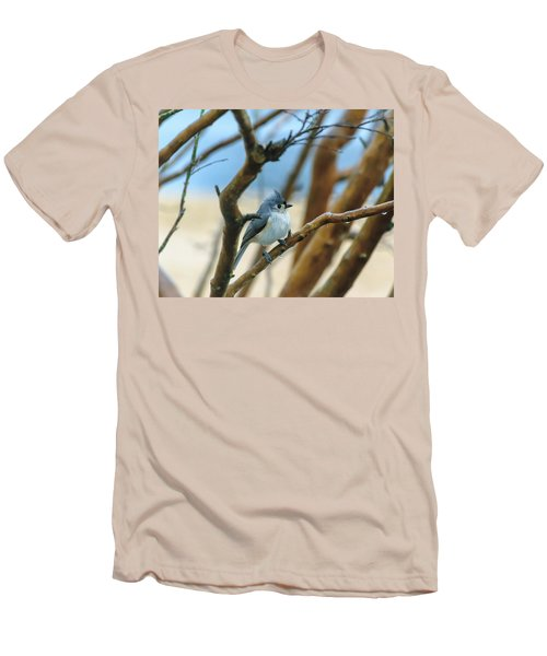 Tufted Titmouse In Tree Men's T-Shirt (Athletic Fit)