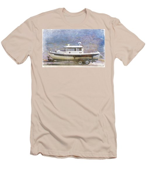 Men's T-Shirt (Slim Fit) featuring the painting Tugboat by Cynthia Powell