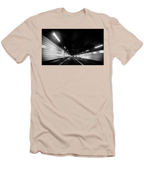 Tunnel Men's T-Shirt (Slim Fit) by Hyuntae Kim