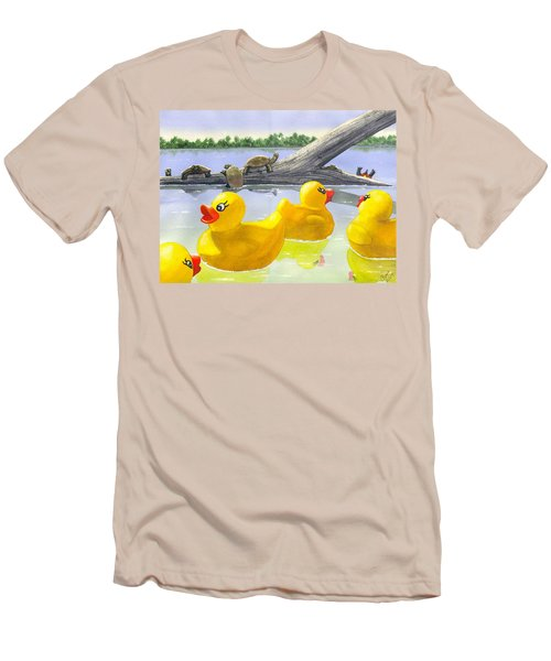 Turtle Log Men's T-Shirt (Athletic Fit)