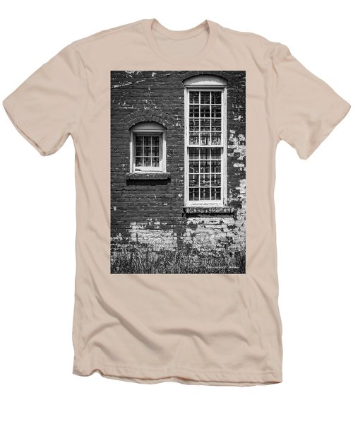 Men's T-Shirt (Slim Fit) featuring the photograph Twins - Bw by Christopher Holmes