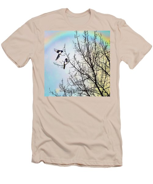 Two For Joy #nurseryrhyme Men's T-Shirt (Slim Fit) by John Edwards