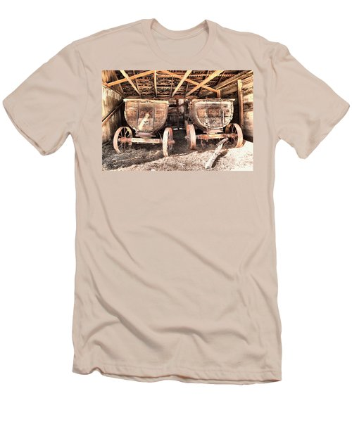 Men's T-Shirt (Slim Fit) featuring the photograph Two Old Wagons by Jeff Swan
