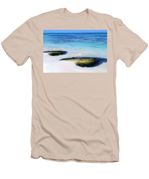 Two Seaweed Mounds On Punta Cana Resort Beach Men's T-Shirt (Athletic Fit)