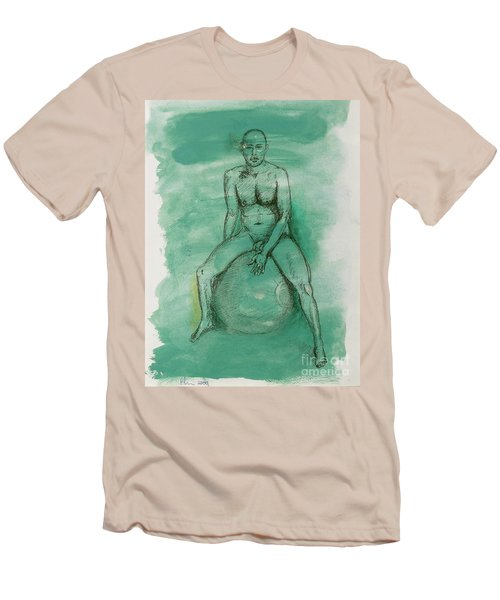 Men's T-Shirt (Slim Fit) featuring the drawing Under Pressure by Paul McKey