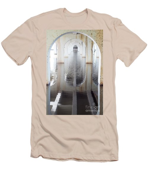 Men's T-Shirt (Slim Fit) featuring the photograph Under The Bridge by Linda Lees