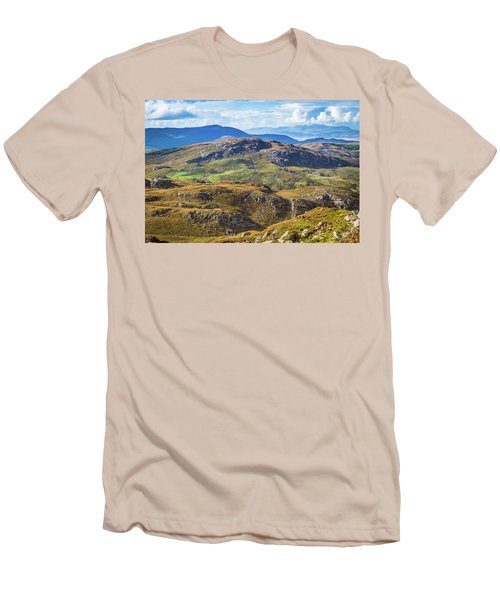 Men's T-Shirt (Slim Fit) featuring the photograph Undulating Landscape In Kerry In Ireland by Semmick Photo