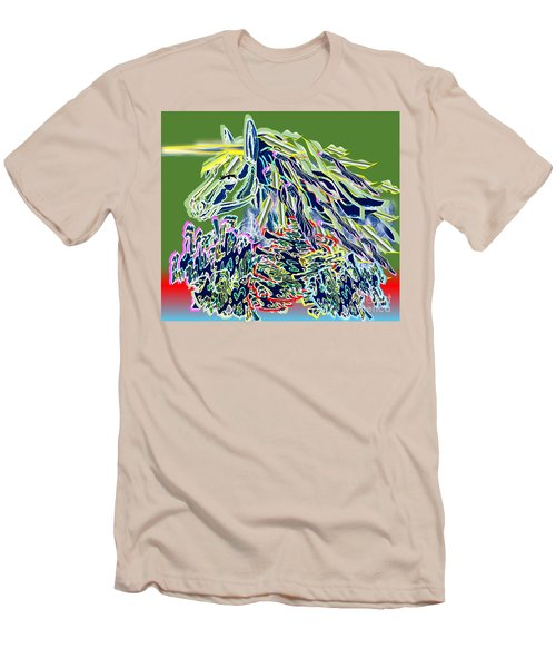 Unicorn Men's T-Shirt (Slim Fit) by Belinda Threeths