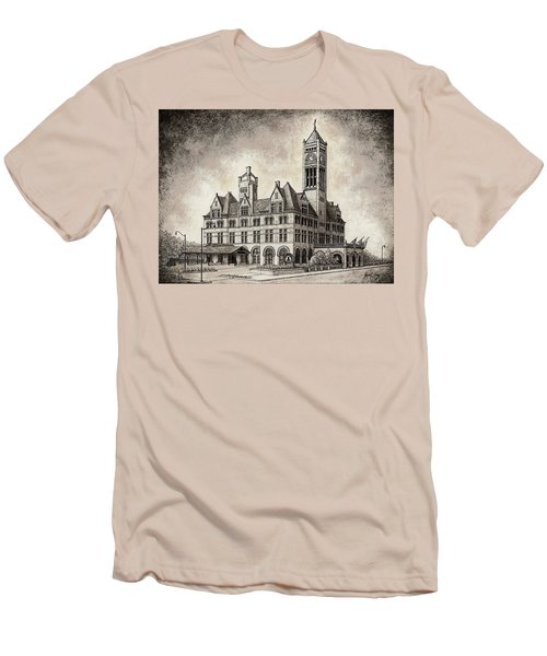 Union Station Mixed Media Men's T-Shirt (Athletic Fit)