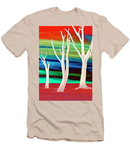 Men's T-Shirt (Slim Fit) featuring the photograph United Trees by Munir Alawi