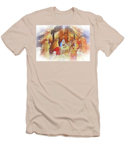 Unto Us A Savior Is Born Men's T-Shirt (Athletic Fit)