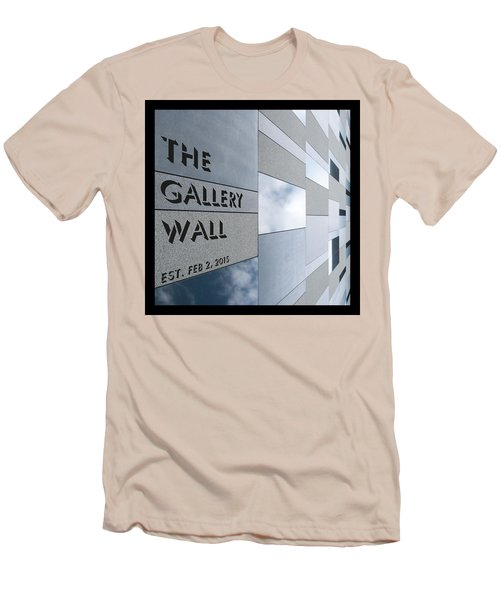 Men's T-Shirt (Athletic Fit) featuring the photograph Up The Wall-the Gallery Wall Logo by Wendy Wilton