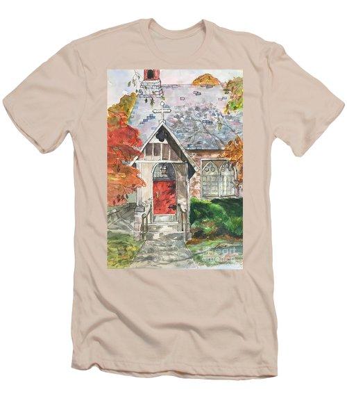 Urban  Church Sketching Men's T-Shirt (Athletic Fit)
