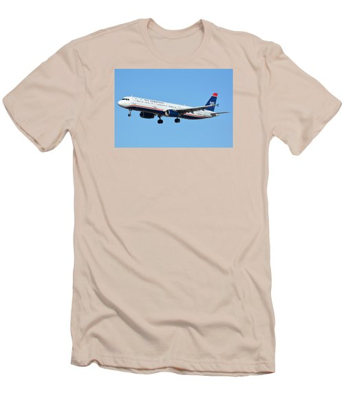 Us Airways Airbus A321-231 N567uw Men's T-Shirt (Athletic Fit)