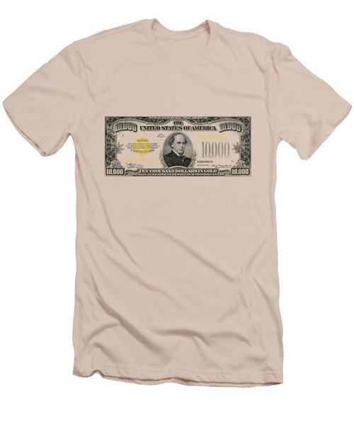 U.s. Ten Thousand Dollar Bill - 1934 $10000 Usd Treasury Note Men's T-Shirt (Athletic Fit)