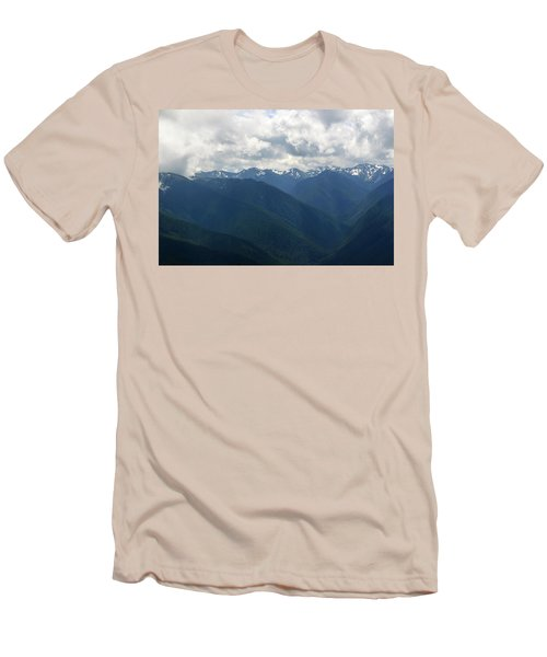 Men's T-Shirt (Athletic Fit) featuring the photograph Valley Of The Olympics by Tikvah's Hope