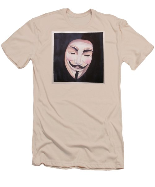 Men's T-Shirt (Slim Fit) featuring the painting Vendetta by Teresa Beyer