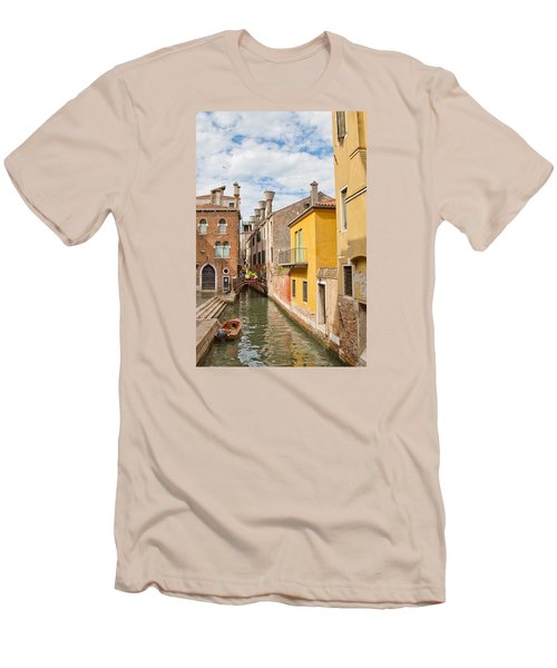 Men's T-Shirt (Slim Fit) featuring the photograph Venice Canal by Sharon Jones