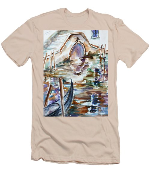 Men's T-Shirt (Slim Fit) featuring the painting Venice Impression I by Xueling Zou