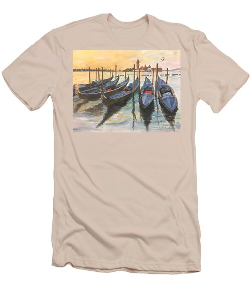 Men's T-Shirt (Slim Fit) featuring the painting Venice by Lucia Grilletto