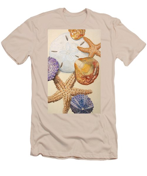 Vertical Starfish Men's T-Shirt (Athletic Fit)
