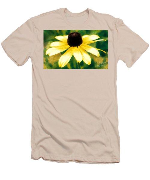Vibrant Yellow Coneflower Men's T-Shirt (Athletic Fit)
