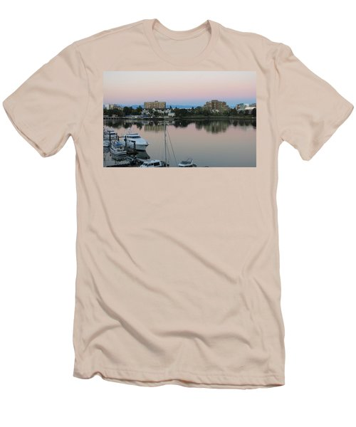 Victoria Harbor Dawn Men's T-Shirt (Slim Fit) by Betty Buller Whitehead