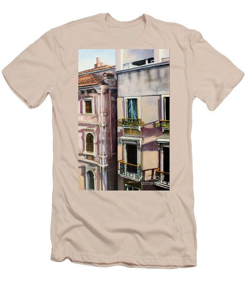 View From A Venetian Window Men's T-Shirt (Slim Fit) by Marlene Book