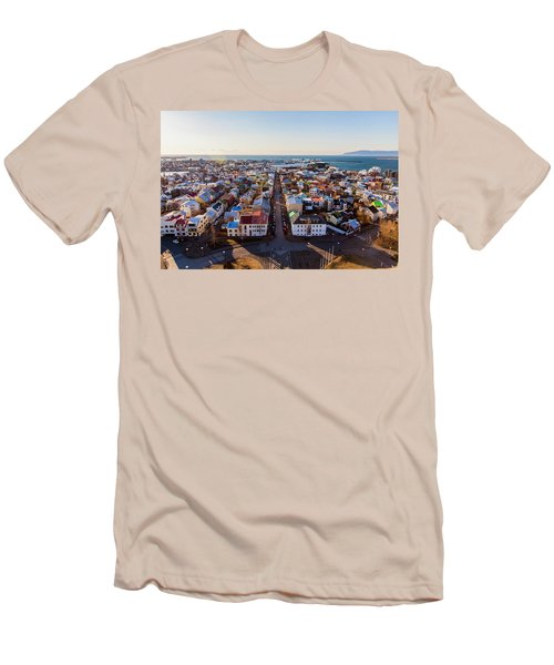View From Hallgrimskirka Men's T-Shirt (Slim Fit) by Wade Courtney