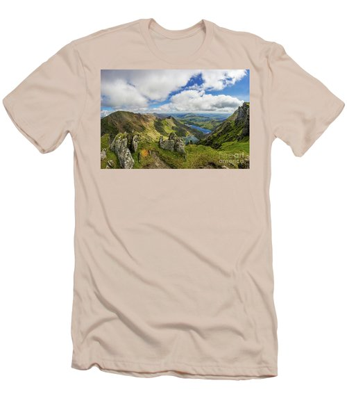 View From Snowdon Summit Men's T-Shirt (Athletic Fit)
