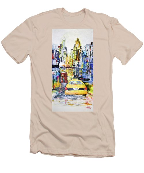 View To Manhattan Men's T-Shirt (Slim Fit)