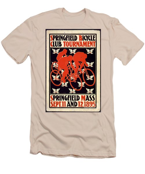 Vintage 1895 Springfield Bicycle Club Poster Men's T-Shirt (Slim Fit) by John Stephens