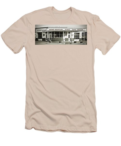 Vintage Gas Station Men's T-Shirt (Athletic Fit)