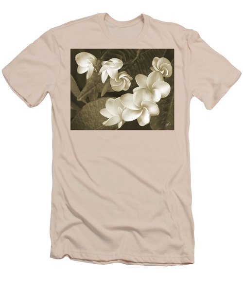 Vintage Plumeria Men's T-Shirt (Slim Fit) by Ben and Raisa Gertsberg
