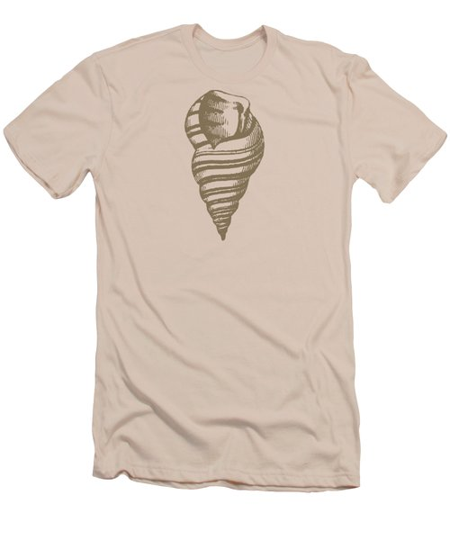 Vintage Sea Shell Illustration Men's T-Shirt (Slim Fit) by Masterpieces Of Art